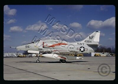 35mm Kodachrome Aircraft Slide - A-4F Skyhawk BuNo 154984 NF515 VA-144 @ Wash 70