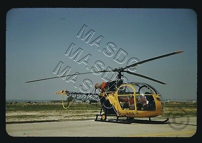35mm RED Kodachrome Helicopter Slide - SE3130 Alouette II N519 in the Late 1950s