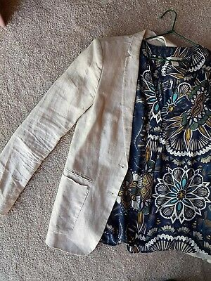 ESPRIT JACKET and H &M PATTERNED  SHIRT BLOUSE