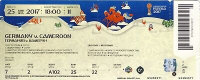 Used Ticket FIFA Confed Cup 2017 Match 11 Germany - Cameroon