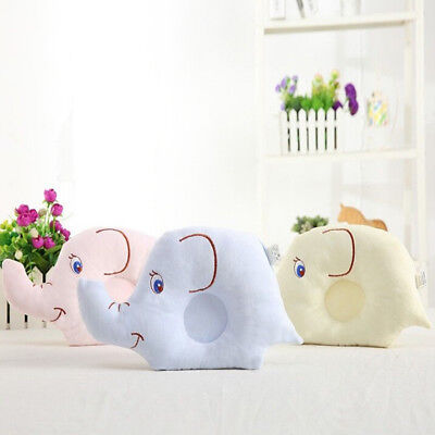 Cute Baby Pillow Soft Cotton Prevent Flat Head Anti-Roll Neck Support For Infant