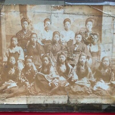 Japan Old Photo Japanese Woman Wearing Kimono Meiji Period 1868-1912 Vintage