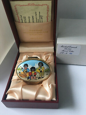 Limited Edition Enamel Trinket Box with Golliwogs