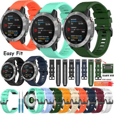 Quickfit Removable Wristband For Garmin Fenix 5/5X/5S GPS Silicone Band Straps