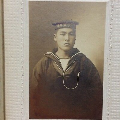 Japan Old Photo Japanese Sailor Man Navy Meiji Period 1868-1912 Vintage