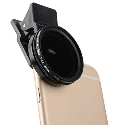 Zomei Phone Camera ND Filter Lens Adjustable Neutral Density Clip-on 37mm