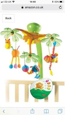 Tiny Love Sweet Island Dreams Musical Newborn Baby Mobile For Cot / Bed