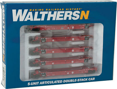 Walthers 929-8103 N Scale Thrall 5-Unit Articulated 48' Well Car - Ready to Run