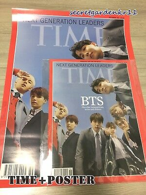 TIME BTS COVER TIME ASIA EDITION : Magazine+Poster Oct. 22 2018 + Tracking New