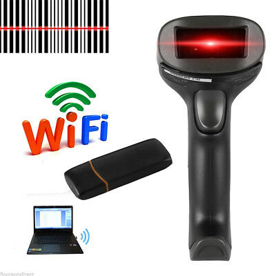 2.4GHz Wireless USB Automatic Wifi Barcode Scanner Handheld Bar-code Reader POS