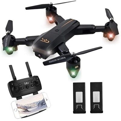 ScharkSpark Drone Thunder with Camera Live Video, RC Quadcopter with 2 Batteries