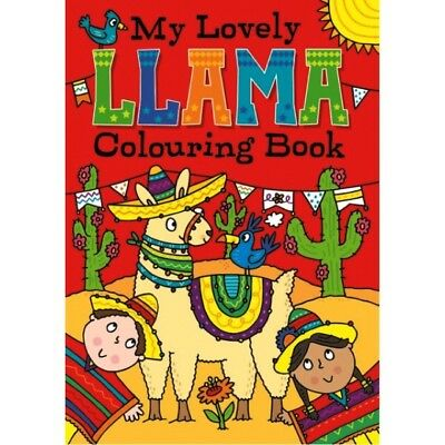 A4 CHILDREN'S My Lovely Llama WHITE PAGE COLOURING Book Fun Pictures 100gsm