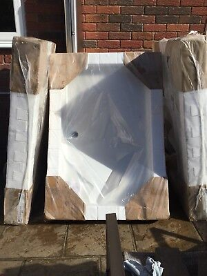 JUST TRAYS JT40 FUSION SHOWER TRAY 1200MM X 800MM WHITE MODEL F1280100 D33511