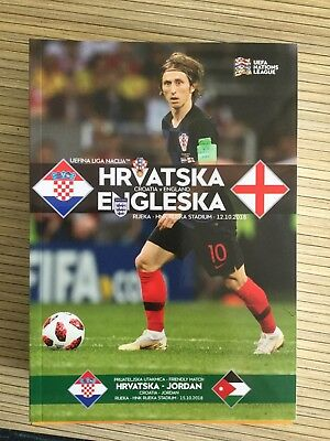 Croatia v England (UEFA Nations League 12/10/18) Official Match Programme