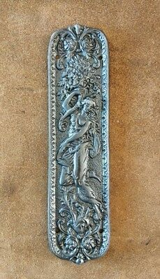Beautiful Ornate Cast Iron 'Figurine' Finger Push Plate Door Antique Style #BD67