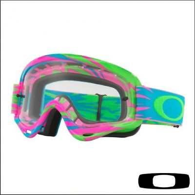 Maschera da Motocross Quad  Bambino Oakley XS O Frame High Voltage Pink/Blue