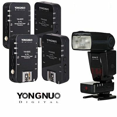 Yongnuo YN-622C Wireless E-TTL Flash Trigger 4PCS for Canon 70D 60D 5D III 7D II