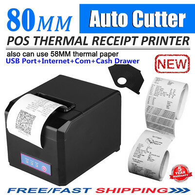Thermal POS Dot Receipt Printer With Auto-Cut USB 300mm/Sec 80mm Without Wi-Fi