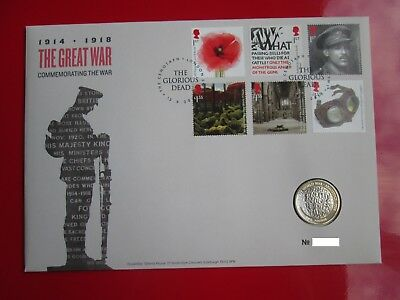 2018 The Great War 1914-1918 Armistice BUNC  £2 Two Pound Coin Cover PNC