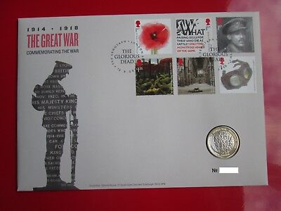 2018 The Great War 1918 WW1 Armistice BUNC  £2 Two Pound Coin Cover PNC NEW