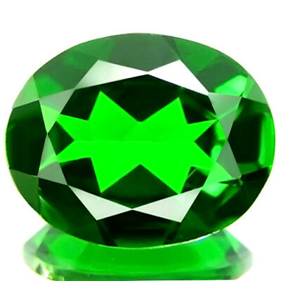 1.06 ct FLAWLESS NATURAL BEST QUALITY 5A+GREEN COLOR CHROME DIOPSIDE AWESOME GEM