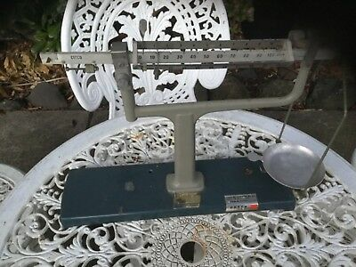 Vintage science equipment.bunsen burner Beam balance, and large weights