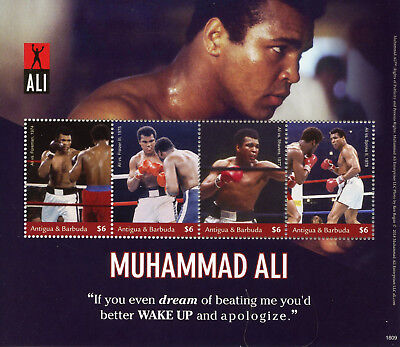 Antigua & Barbuda 2018 MNH Muhammad Ali 4v M/S Boxing Sports People Stamps