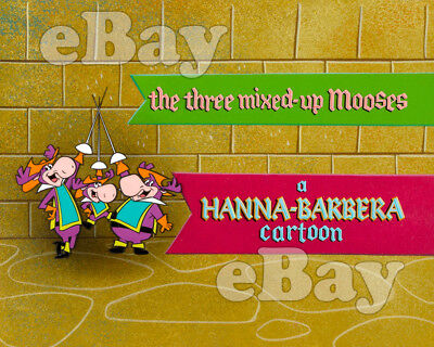 Rare! THREE MIXED UP MOOSES Cartoon TV Photo HANNA BARBERA Studios UNSOLD SERIES