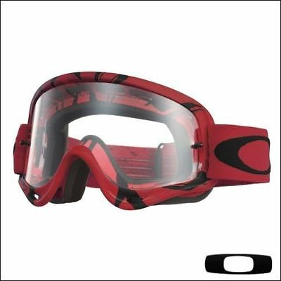 Maschera da Motocross Quad Enduro Oakley O Frame Intimidator Red Black