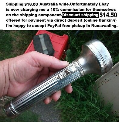 Flashlight torch by Balloon Collectable from 50's 60's great movie prop
