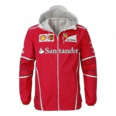 F1 Scuderia FERRARI Puma Mens Team Rain Jacket Coat RED – New OFFICIAL