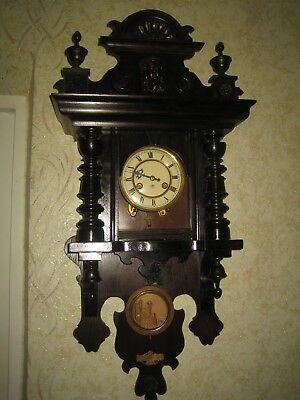 Antique German JUNGHANS Free Swinger Wall Clock