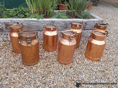 French Vintage Rustic Copper Milk Churn Display Shop Prop Refs T19/51-57