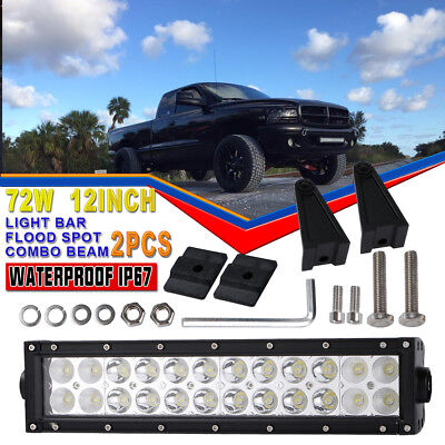 "12""Inch Combo LED Light Bar Offroad Driving Waterproof KAWASAKI TERYX TERYX4 ATV"