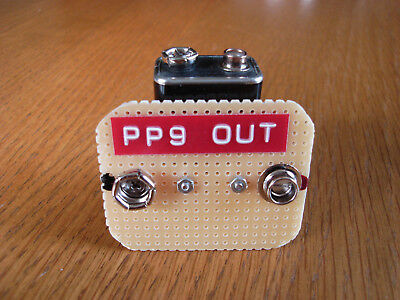 "PP9 battery adapter ""No wires"" for PP3  Transistor radios Roberts, Bush, Hacker"