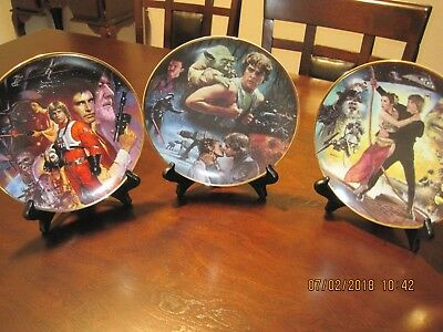 Star Wars Hamilton Plates- set of 3 Star Wars, Empire and Return of the Jedi