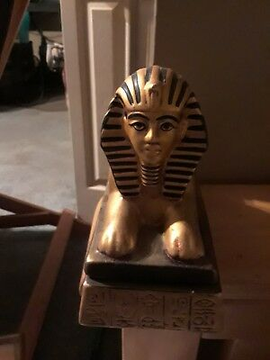 Egyptian sphinx statue with hidden compartment