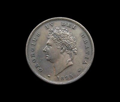 George Iv 1825 Copper Penny - Ef