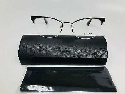 59347f3b885 New Authentic Prada VPR 65Q DHO-101 Dark Brown   Gold Eyeglasses 51mm with  Case