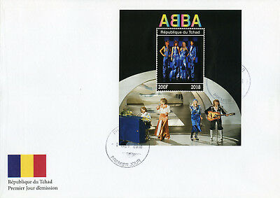 Chad 2018 FDC ABBA 1v M/S Cover Celebrities Popstars Music Famous People Stamps