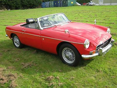 1970 MGB ROADSTER Mk3 GHN5 MODEL. FLAME RED, WIRE WHEELS, OVERDRIVE. ONLY 42000