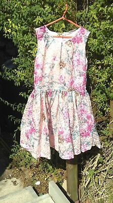 Girls Pink Floral Dress From Next 13 Years