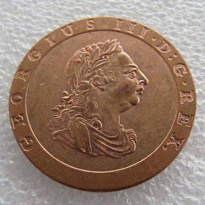 "George Iii ""cartwheel"" Two Pence 1797 British New Coin Copper Uk"