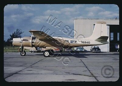 35mm Sears Aircraft Slide - B-26C Monarch Invader N6841D @ Hutchinson KS - 1965