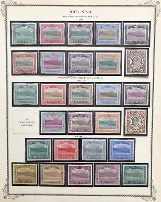 DOMINICA Collection (96% Complete) loaded w/ early mint, specimen & MNH stamps