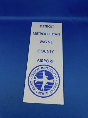 Detroit Metropolitan Wayne County Airport Advertising Brochure Directory Map