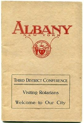 City of Albany, NY, booklet. 46 pp. Definitive snapshot of city in c.1918.