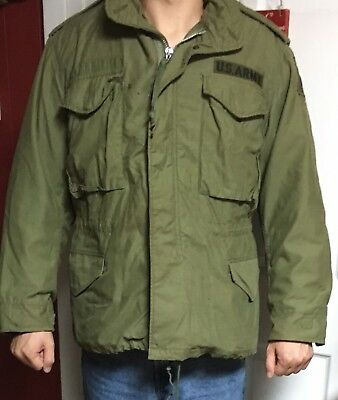 Post Vietnam U.S. military M-65 Cold Weather Field Coat 50th U.S. Armored Inf