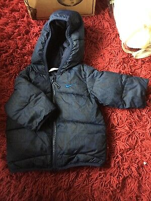 Nike Navy Mix Baby Boys Puffer Jacket Age 18-24 months- Nike