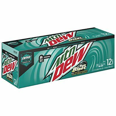 Mountain Dew Baja Blast Taco Bell Limited Edition 12 Pack Cans